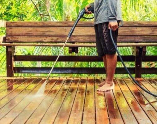 Limpiar porche con hidrolimpiadora