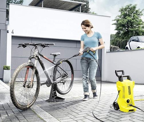Limpiando bicicleta con K2