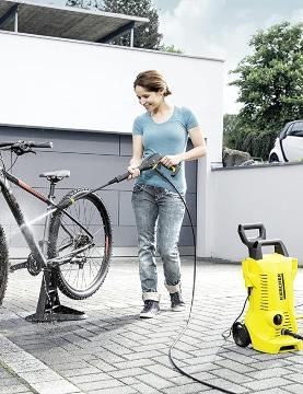 Limpiar bicicleta con hidrolavadora