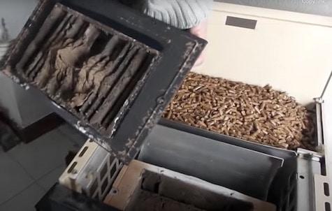 Intercambiador de calor de estufa de pellets