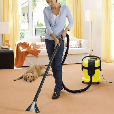 Limpiar alfombra con lava aspiradora Karcher