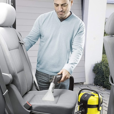 Limpiar tapicería del coche con lava aspiradora Karcher